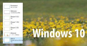 Windows 10 et le Gestionnaire des tâches