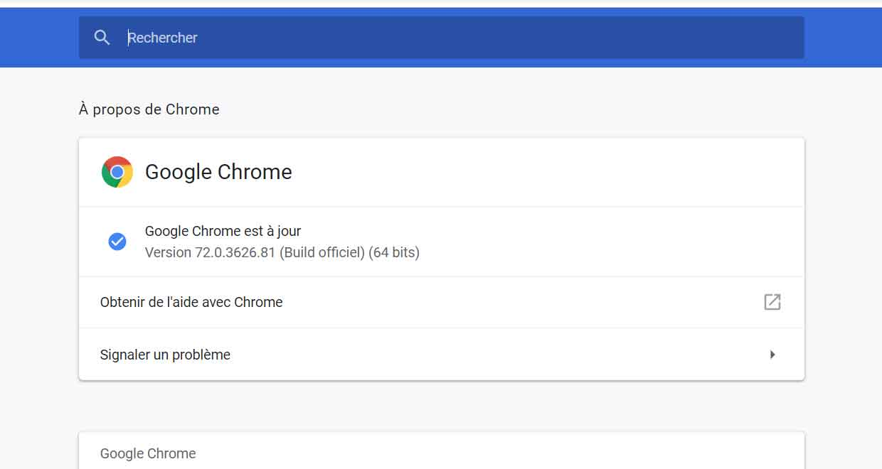 Google Chrome 72