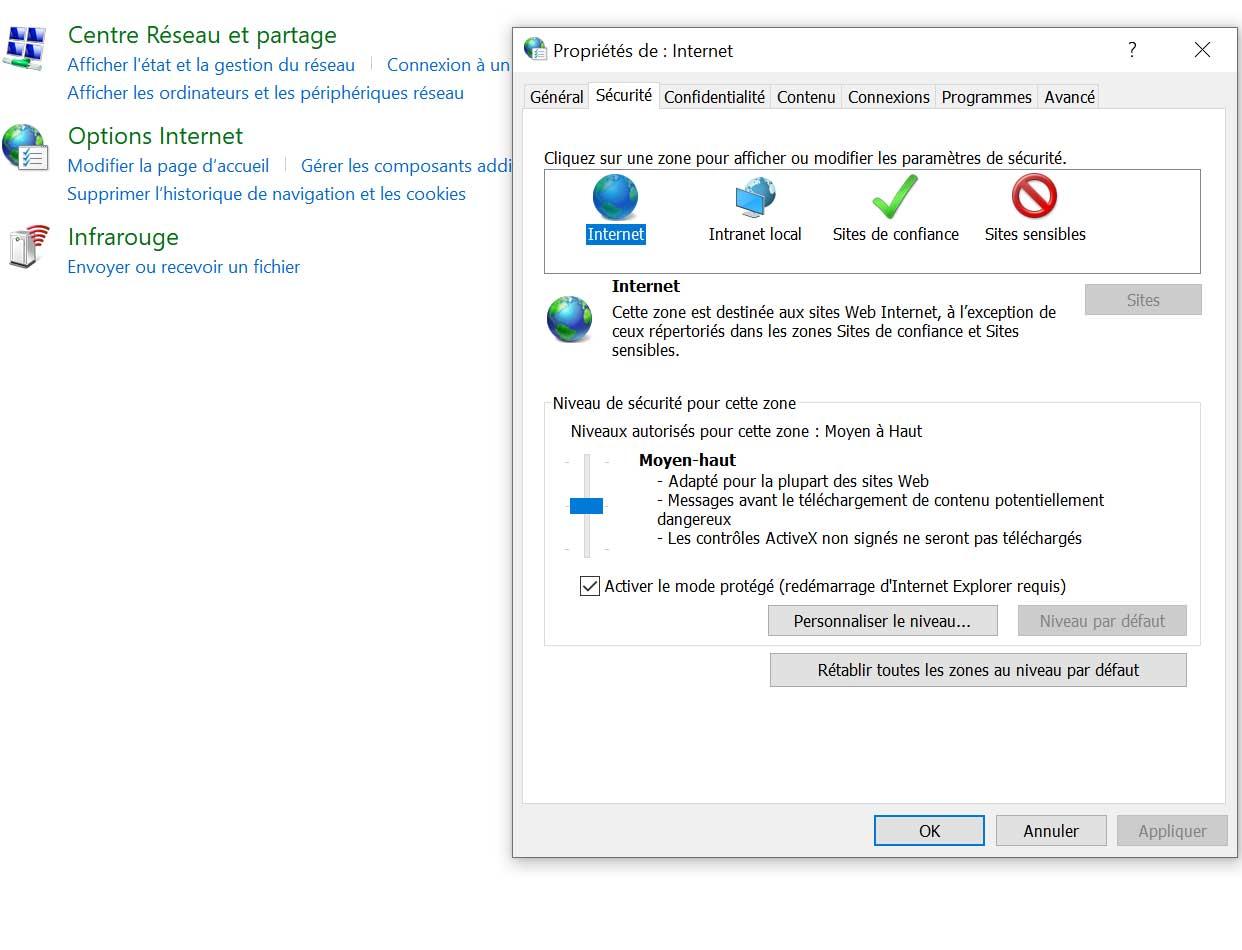 Windows 10 - Le panneau de configuration