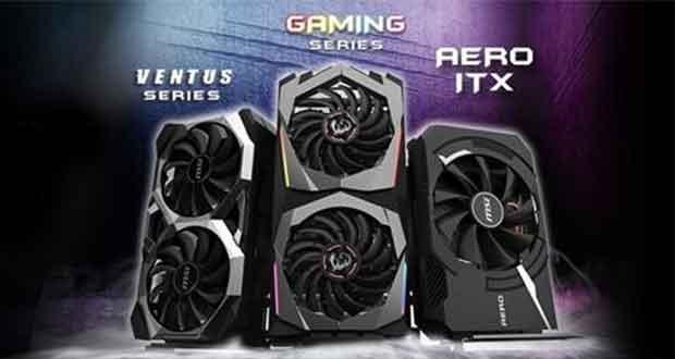 Les Geforce RTX 2060 GAMING Z 6G, VENTUS 6G OC et AERO ITX 6G OC de MSI