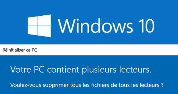 Windows 10 v1903 (19H1) et la fonction Réinitialiser ?