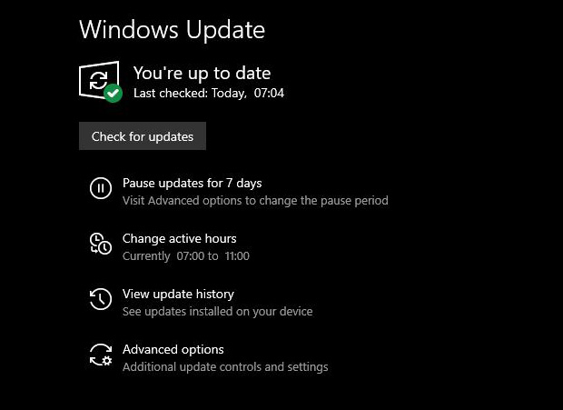 Windows 10 19H1, Windows Update propose une option pour retarder de 7 jours l'installation des mises à jour.