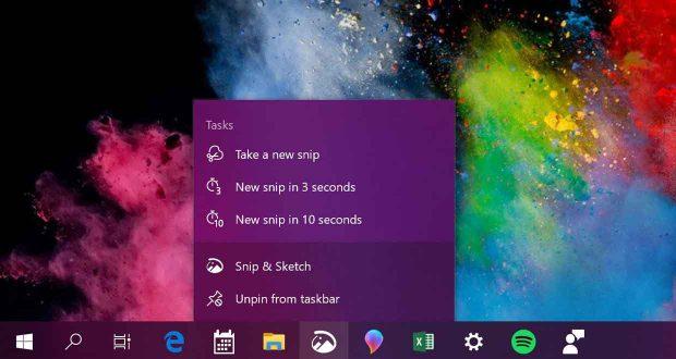 Windows 10 v1903 et les Jump Lists