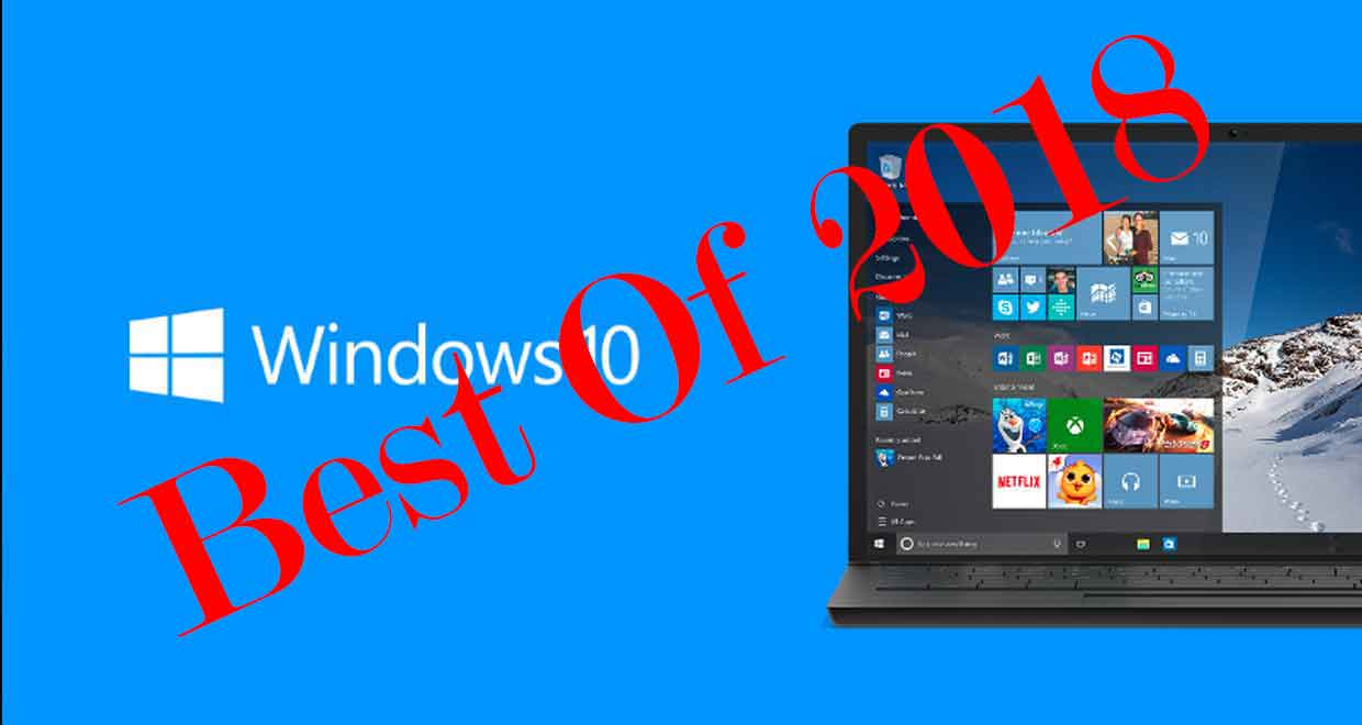 Windows 10 en 2018, le Top 5