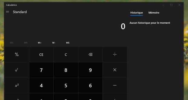 Windows 10 - Bug d'affichage dans la calculatrice