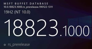 Windows 10 build 18823 alias Windows 10 v1909