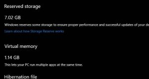 Windows 10 19H1 et la fonction Reserved Storage
