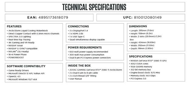 GeForce RTX 2080 Ti ArcticStorm de Zotac