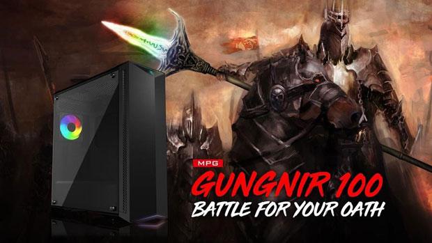 Boitier gaming MPG Gungnir 100 de MSI