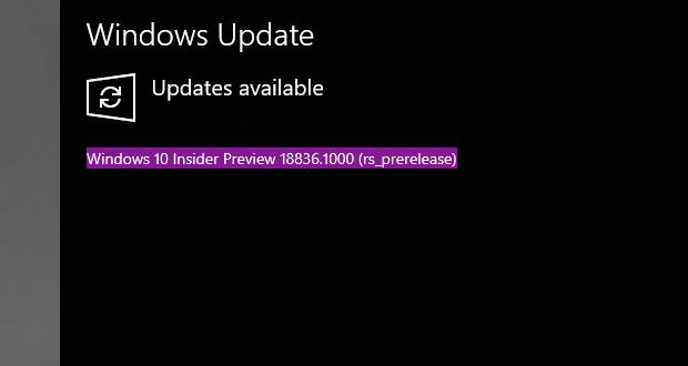 Windows 10 build 18836, première Preview de Windows 10 20H1