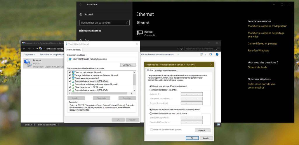 Windows 10 - Paramétrage DNS