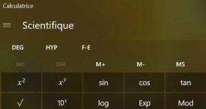 La calculatrice de Windows 10, bientôt un mode graphique