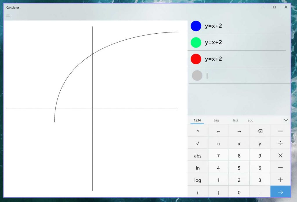 La calculatrice de Windows 10, bientôt un mode graphique