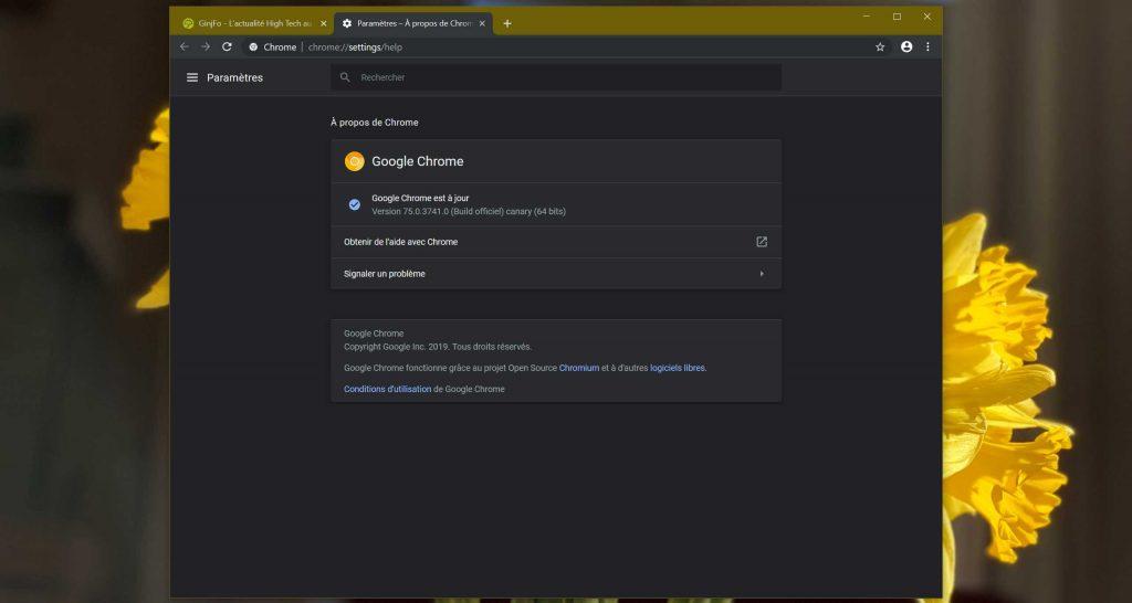 Chrome Canary - le Focus Mode