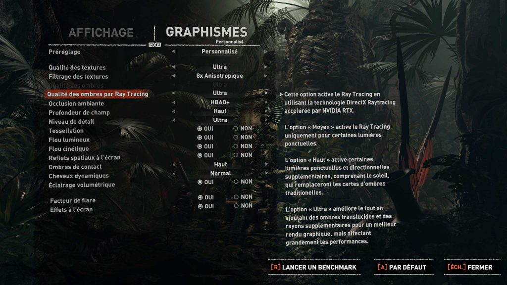 Shadow of the Tomb Raider et le patch RTX