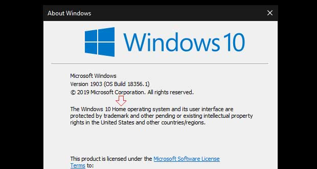 Windows 10 Build18356