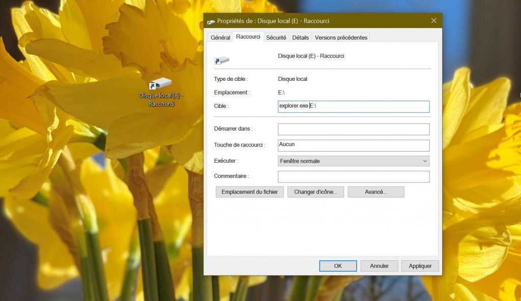 Windows 10 – Comment créer un raccourci vers un lecteur dans la barre des tâches ?