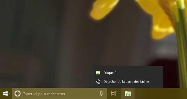 Windows 10 et la barre des tâches
