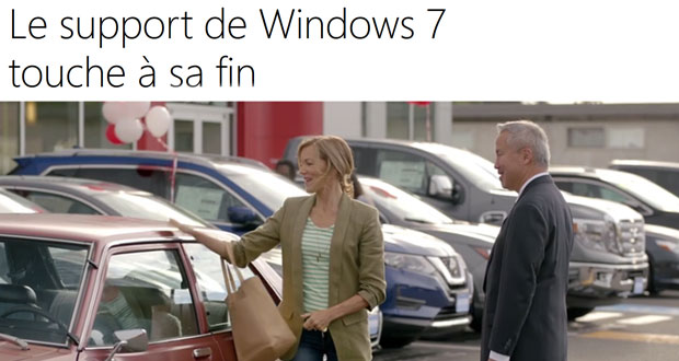 Windows 7, son support touche à sa fin