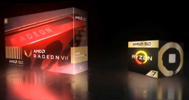Radeon VII et Ryzen 7 2700X 50th Anniversary Edition