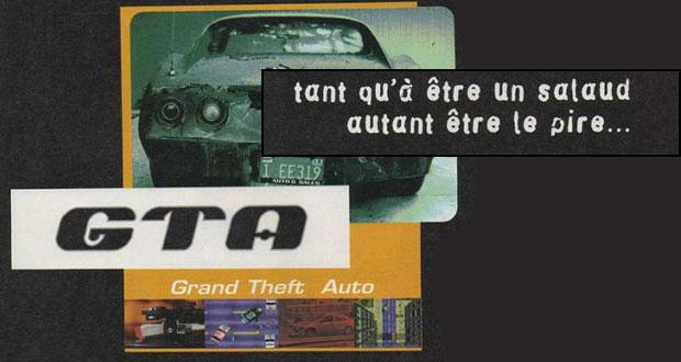 Ancienne publicité de jeu vidéo