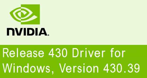GeForce 430.39 WHQL