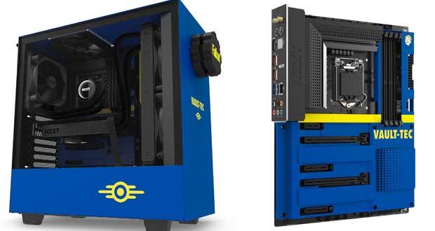Boitier PC H500 Vault Boy et cache carte mère N7 Z390 Vault Boy Cover de NZXT