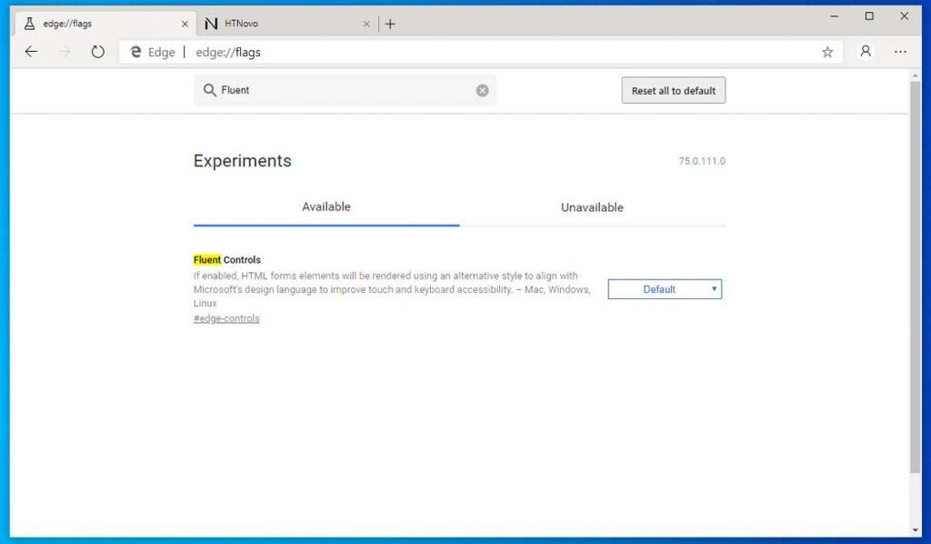 Microsoft Edge Chromium et le Fluent Design