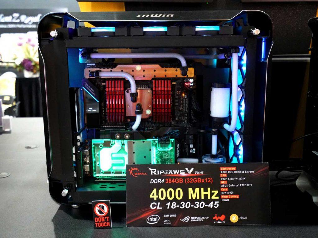 Kit Ripjaws V 12 x 32 Go de DDR4-4000 CL18 de G.Skill
