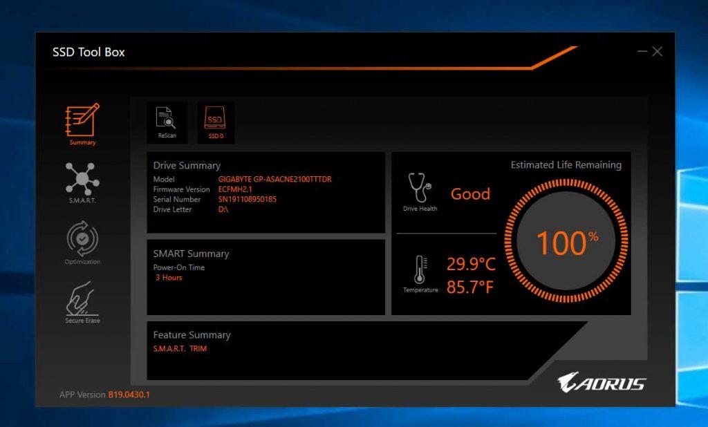 application SSD Tool Box