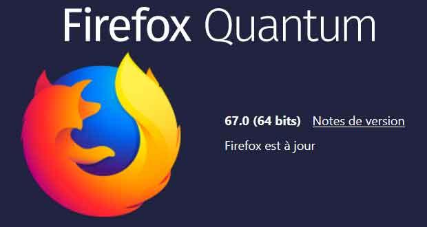 Navigateur Internet Firefox 67 de Mozilla
