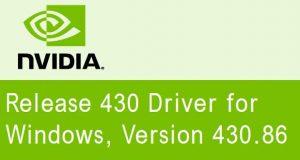 Pilotes GeForce 430.86 WHQL de Nvidia