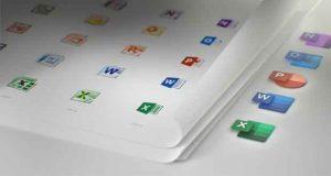 Suite bureautique Microsoft Office, ses icônes