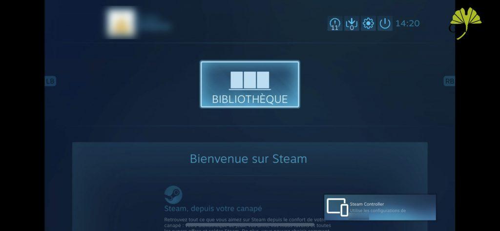 Steam Link sous iOS