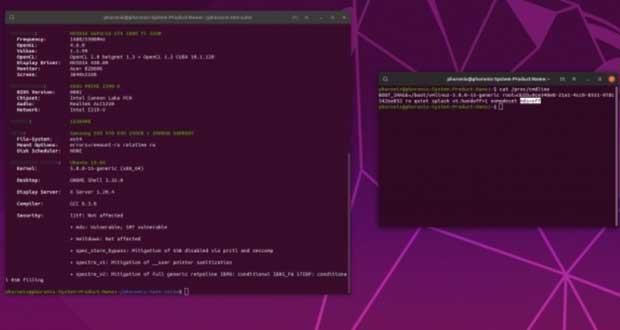Distribution Linux Ubuntu - performances des processeurs Intel