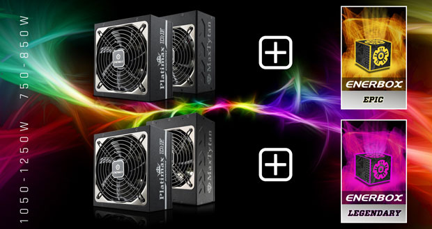 Enerbox LEGENDARY et Enerbox EPIC d'Enermax