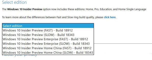 Windows 10 20H1, ISO d'installation