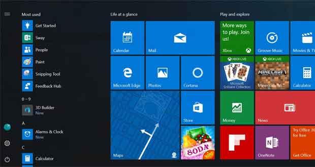 Windows 10 et la personnalisation du menu démarrer