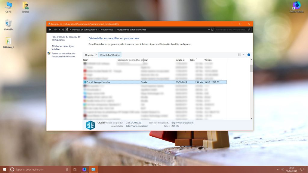 Windows 10 et la suppression des applications
