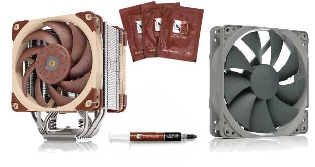 Ventirad NH-U12A , ventilateur NF-P12 Redux-1300, pate thermique NT-H2 et lingettes nettoyantes NA-SCW1