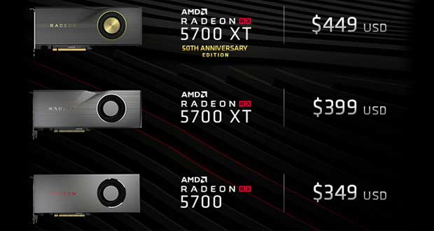 Radeon RX 5700 series - Prix officiels