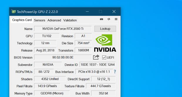 Utilitaire GPU-Z 2.22