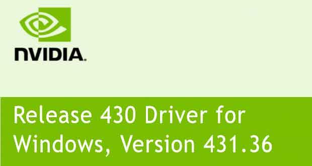 GeForce 431.36 WHQL