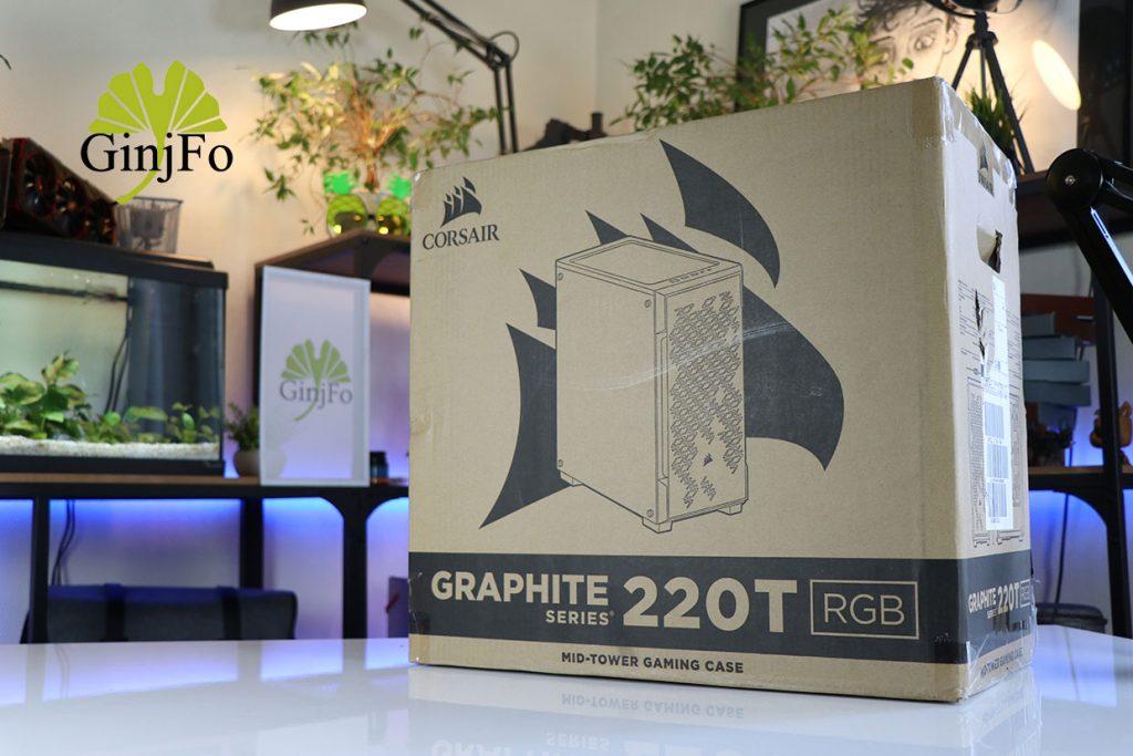 Boitier Graphite series 220T RGB de Corsair