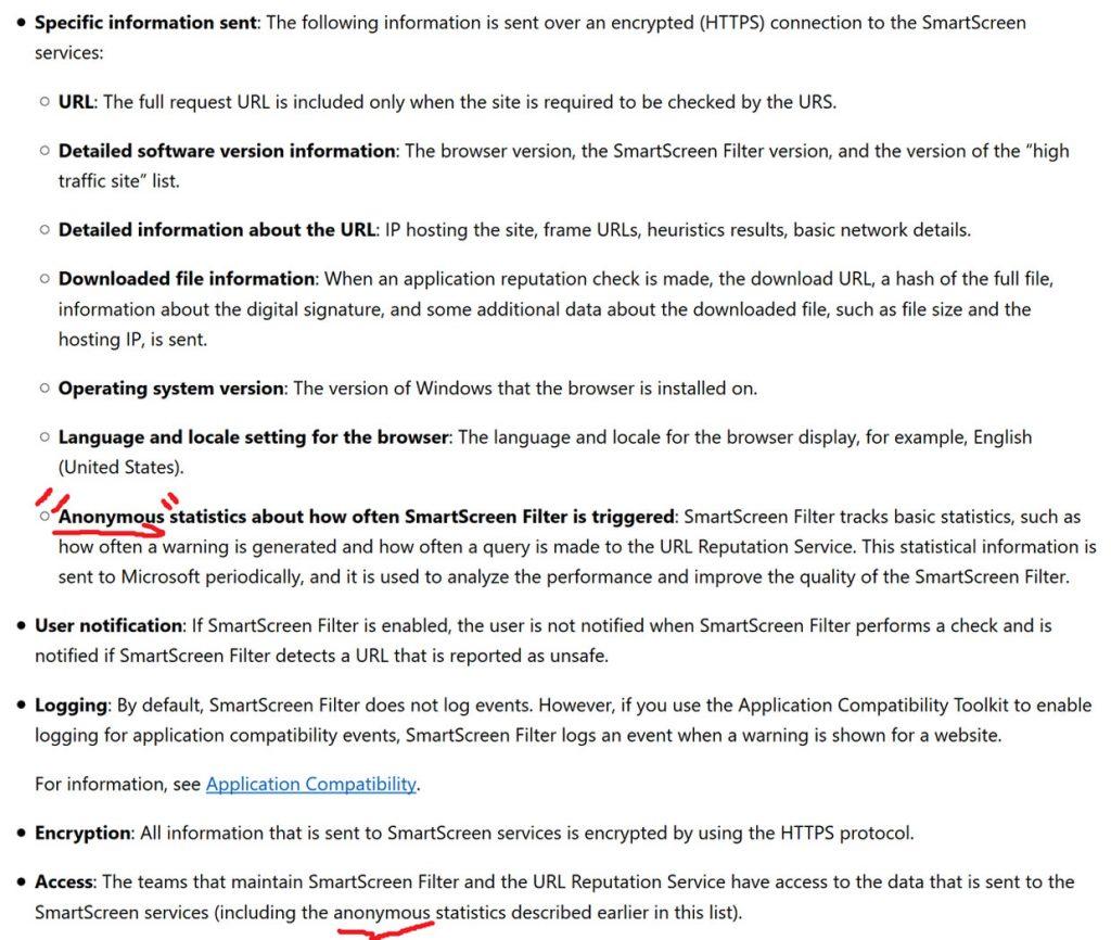Microsoft Edge - confidentialité des données