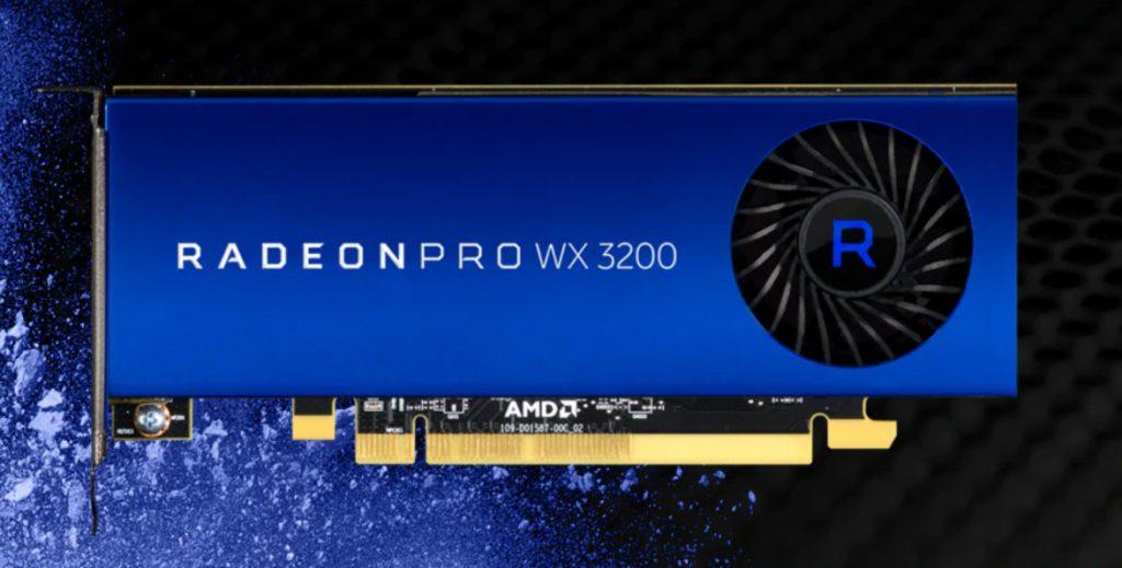 La Radeon Pro WX 3200 d'AMD