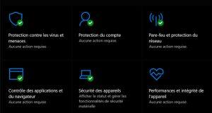 Windows 10 - Sécurité Windows