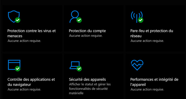 Windows 10 - Sécurité Windows