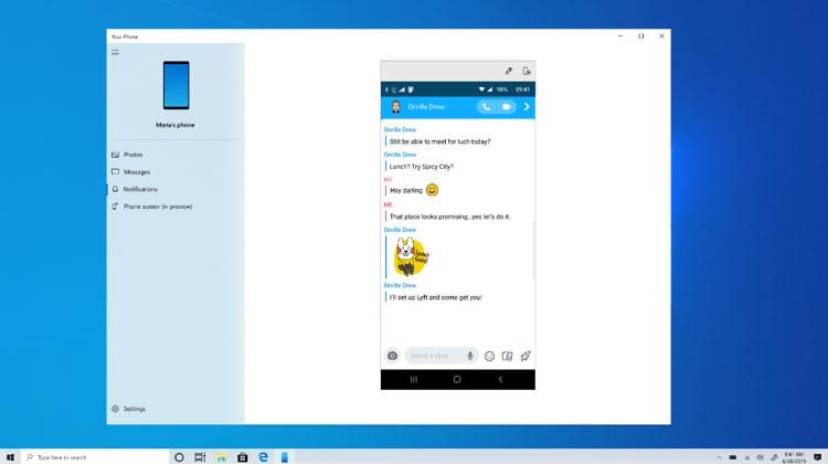 Windows 10 build 18932 - Votre Téléphone
