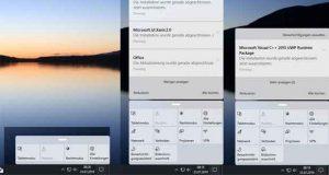 Windows 10 build 18947 et les coins arrondis (centre de notifications).